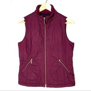 NWOT Talbots purple colored quilted vest